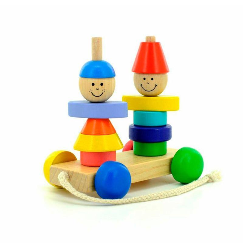Пирамидка-каталка Мальчик и девочка Игрушки из дерева