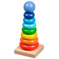 Пирамидка Круг Игрушки из дерева 9 деталей