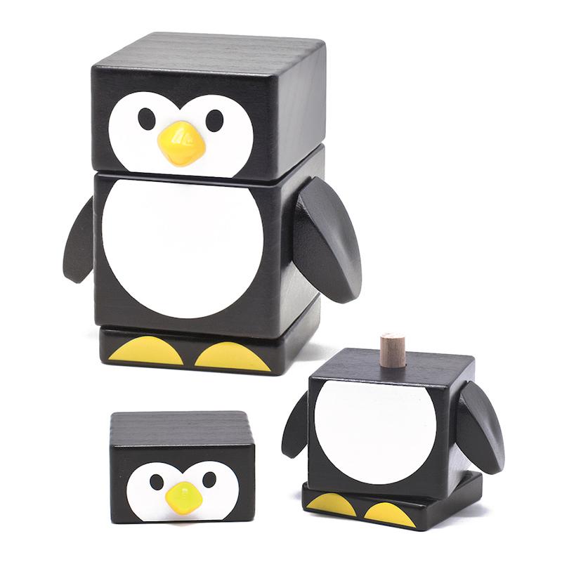 Пирамидка Пингвин Бомик 3 детали