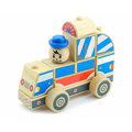Пирамидка Полицейская машина Игрушки из дерева 9 деталей