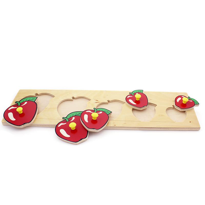 """Рамка-вкладыши """"Большие яблоки"""" 1016 Lam Toys (5 деталей)"""