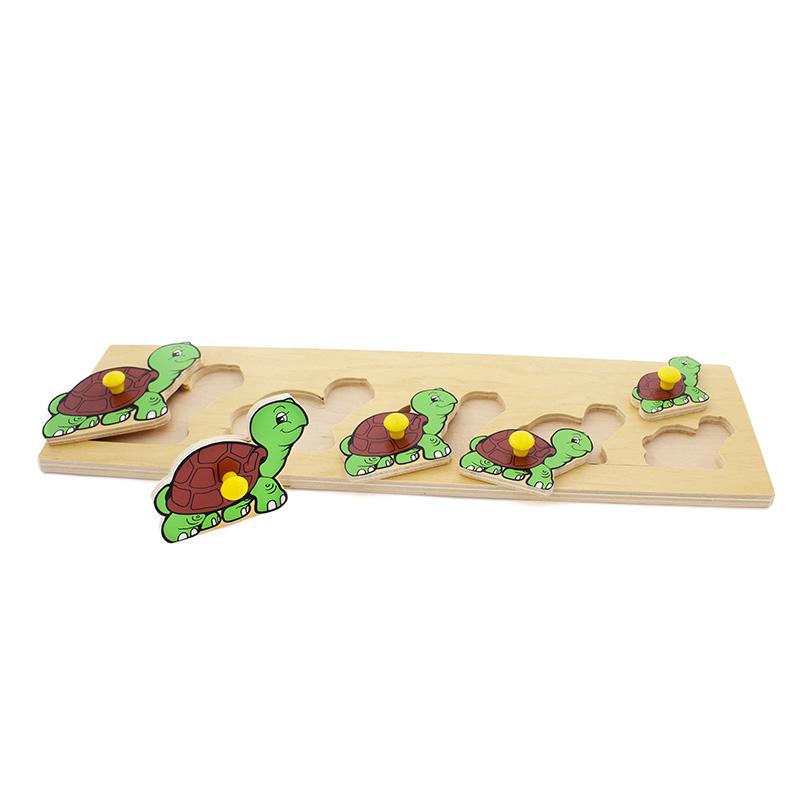 """Рамка-вкладыши """"Черепашки"""" 1019 Lam Toys (5 деталей)"""