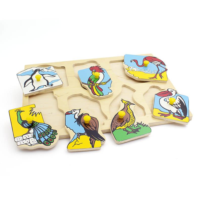 """Рамка-вкладыши """"Экзотические птицы"""" 1436 Lam Toys (7 деталей)"""