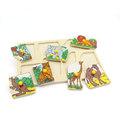 """Рамка-вкладыши """"Экзотические животные"""" 1434 Lam Toys (7 деталей)"""
