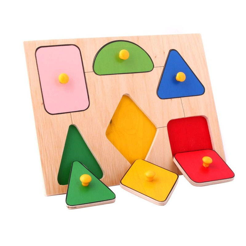 """Рамка-вкладыши """"Геометрические фигуры"""" Lam Toys (6 деталей)"""