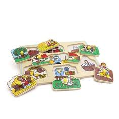 """Рамка-вкладыши """"Большая ферма"""" 1420 Lam Toys (8 деталей)"""
