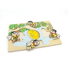 "Рамка-вкладыши ""Пчелы"" 1402 Lam Toys (4 детали)"