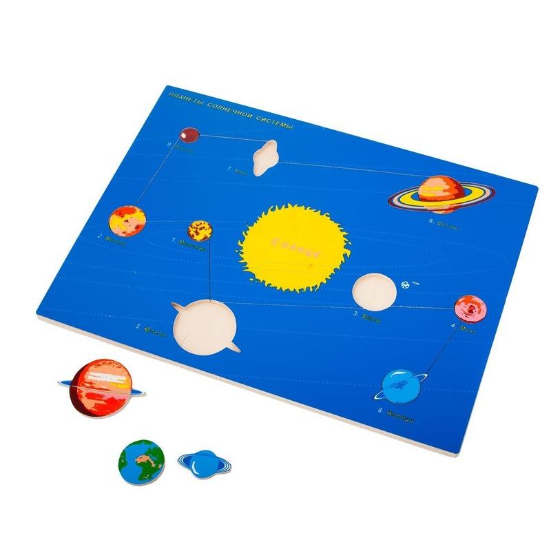 "Рамка-вкладыши ""Планеты"" Lam Toys (9 деталей)"
