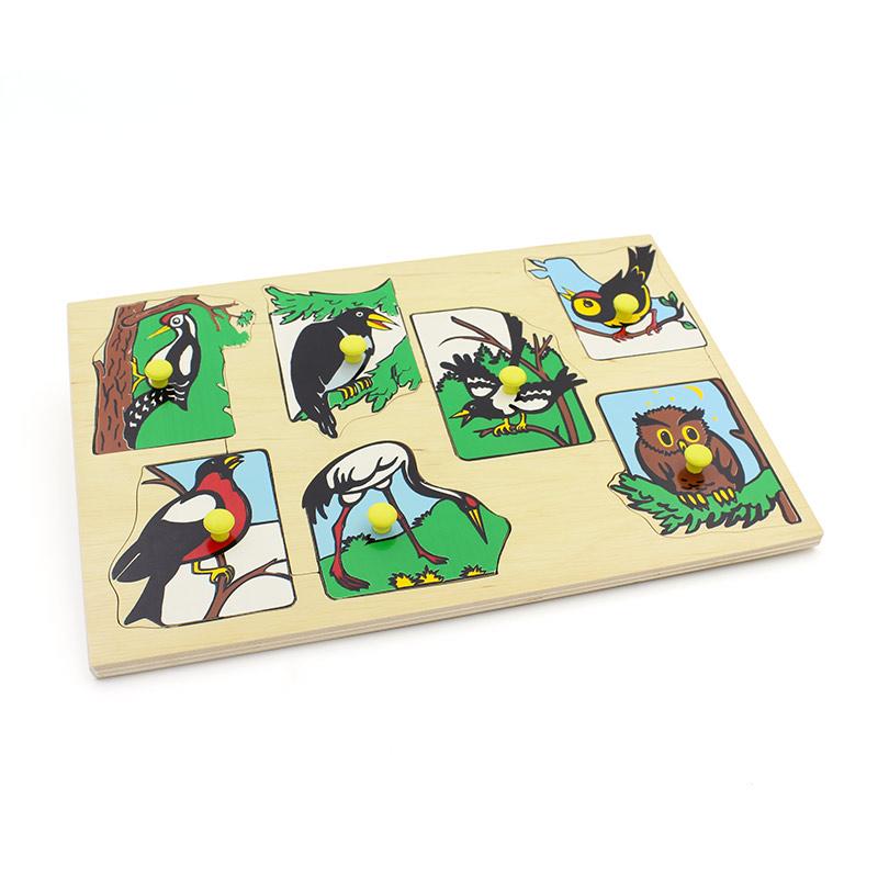 """Рамка-вкладыши """"Птицы наших лесов"""" 1437 Lam Toys  (7 деталей)"""