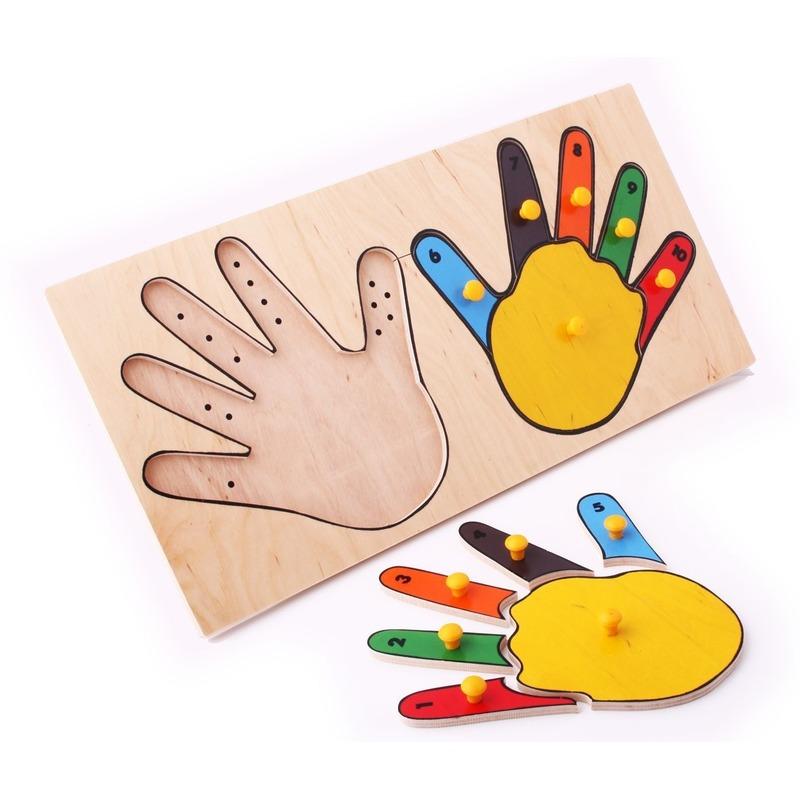 "Рамка-вкладыши ""Руки математика"" Lam Toys (12 деталей)"
