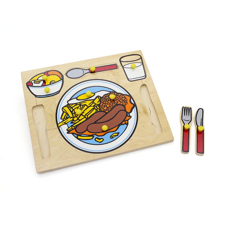 """Рамка-вкладыши """"Сервировка стола"""" 5010 Lam Toys (10 деталей)"""