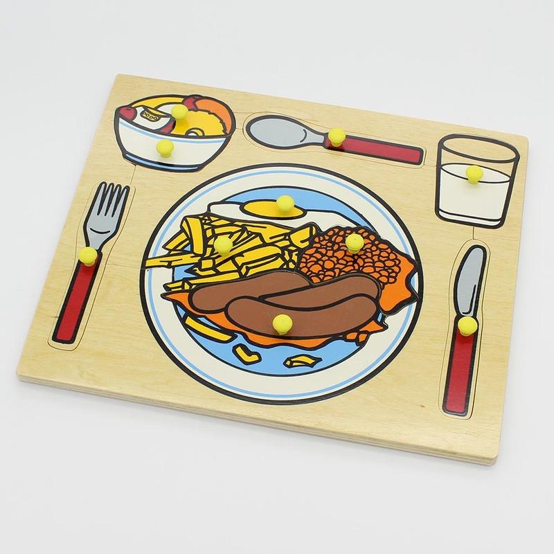 """Рамка-вкладыши """"Сервировка стола"""" Lam Toys (10 деталей)"""