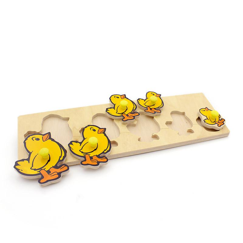"""Рамка-вкладыши """"Цыплята"""" 1471 Lam Toys (5 деталей)"""