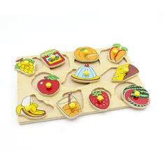 """Рамка-вкладыши """"Завтрак овощи и фрукты"""" 1415 Lam Toys (11 деталей)"""