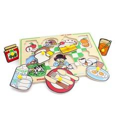"""Рамка-вкладыши """"Завтрак"""" 1423 Lam Toys (7 деталей)"""