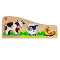 "Рамка-вкладыш ""Животные на ферме"" LL189 Lucy&Leo 4 детали"