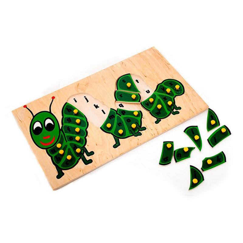 "Рамка-вкладыши ""Гусеница - Алфавит (Англ.)"" 5012 Lam Toys (26 деталей)"