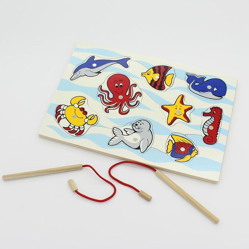 """Рамка-вкладыши """"Морские животные Рыбалка"""" Lam Toys 11 деталей"""
