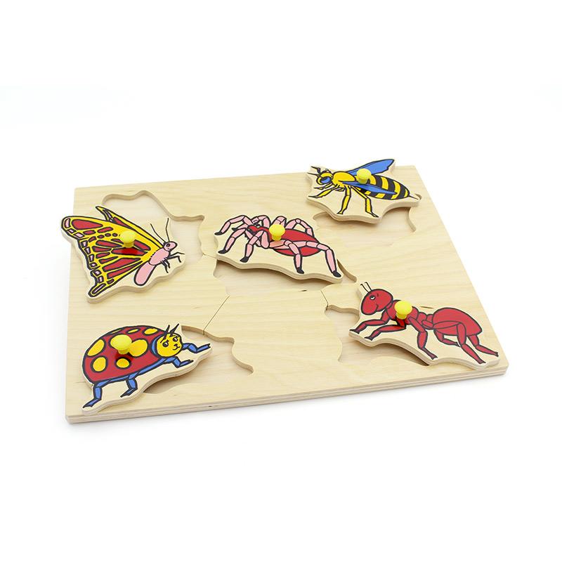 """Рамка-вкладыши """"Насекомые"""" 40868 Lam Toys (5 деталей)"""