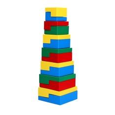 Деревянная пирамидка-головоломка 14 эл. Komarovtoys