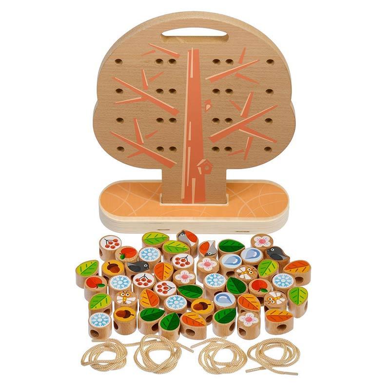Дерево-шнуровка Д104 Игрушки из дерева 50 деталей