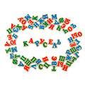 Набор российский алфавит на магнитах (72 буквы) Komarovtoys