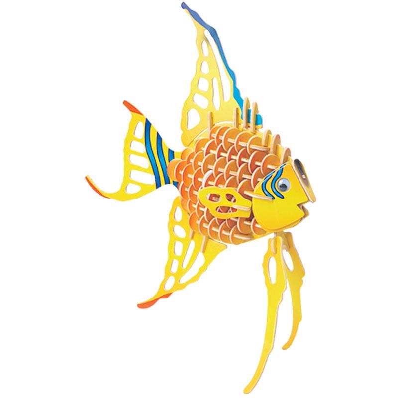 Рыба-Ангел Ш010с Игрушки из дерева 129 деталей