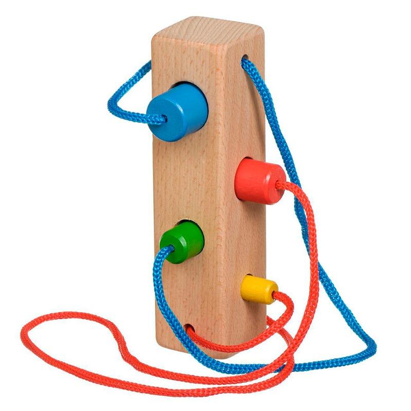 Шнуровка Брусочек Игрушки из дерева