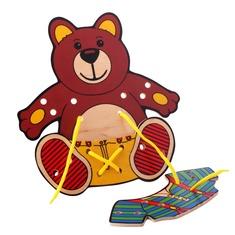 """Шнуровка """"Медвежонок"""" 1462 Lam Toys (3 детали)"""