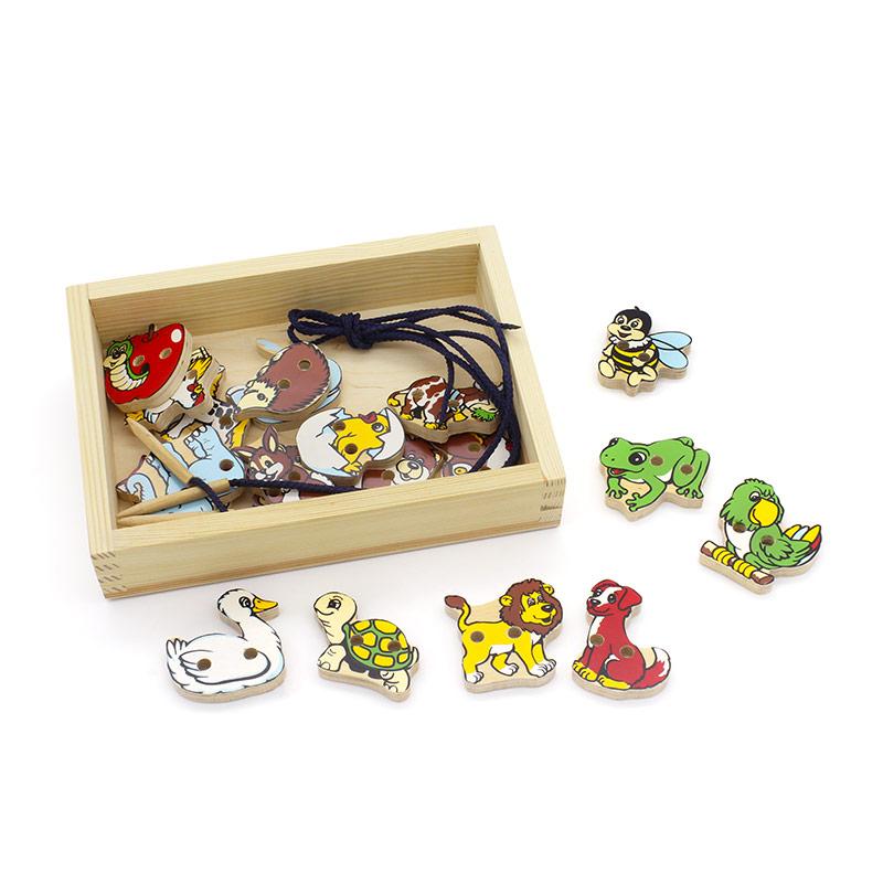 """Шнуровка """"Животные"""" 1033-2 Lam Toys (20 деталей)"""