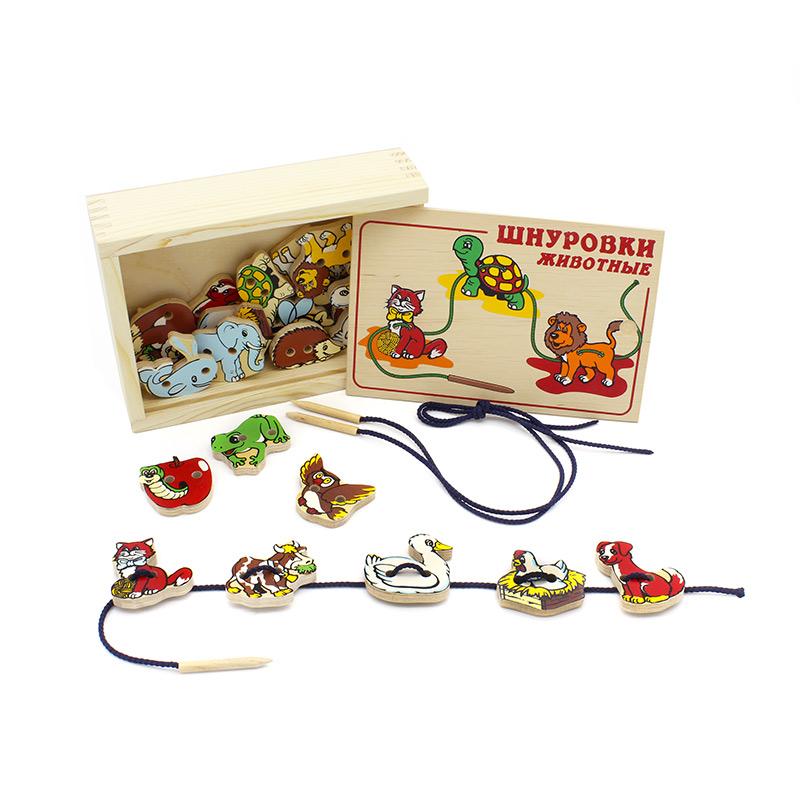 Шнуровка Животные 1033-1 Lam Toys (20 деталей)
