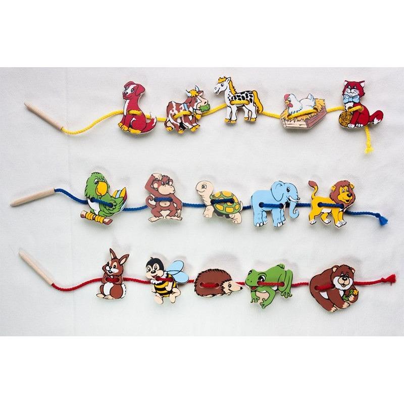"""Шнуровка """"Животные"""" Lam Toys (20 деталей)"""