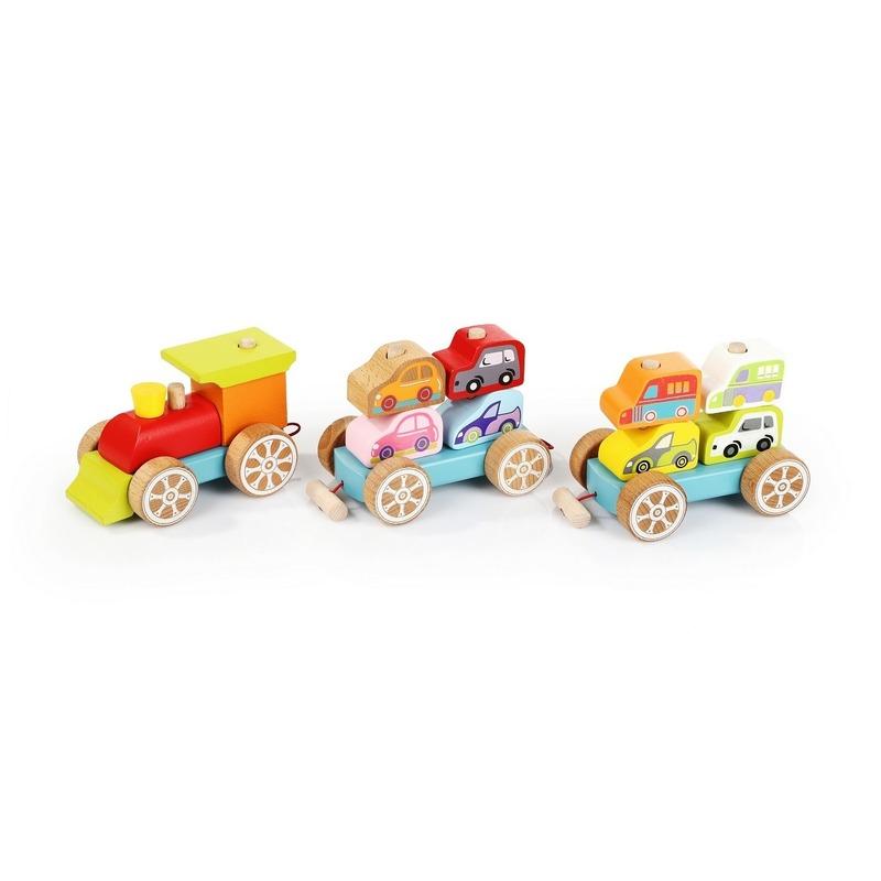 Сортер Поезд с машинками Cubika (14 деталей)