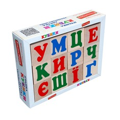 Кубики Украинский алфавит Komarovtoys 12 шт