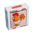 """Кубики Сложи рисунок """"Домашние животные"""" Komarovtoys 4 кубика"""