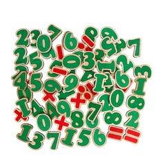 Набор цифры и знаки на магнитах (72 буквы) Komarovtoys