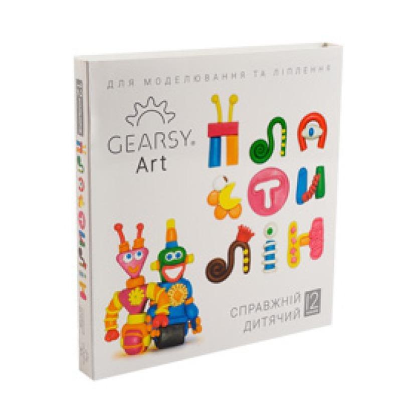 Наборы для развития и творчества Пластилин «Gearsy Art» набор из 12 цветов 60010