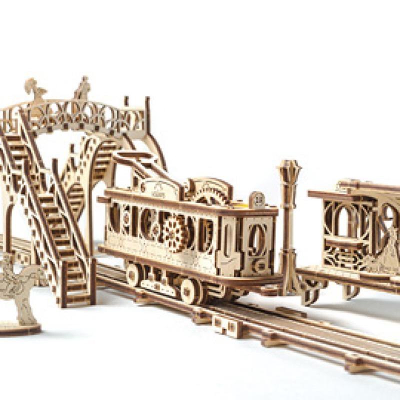 Механические 3D пазлы UGEARS Трамвайная линия 70028