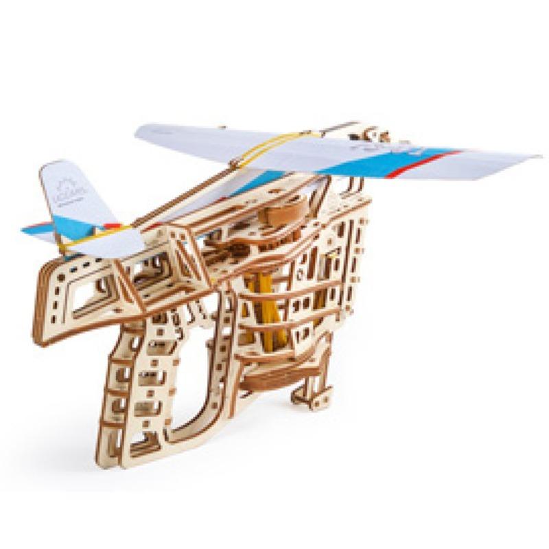 Механические 3D пазлы UGEARS Пускатель самолетиков 70075