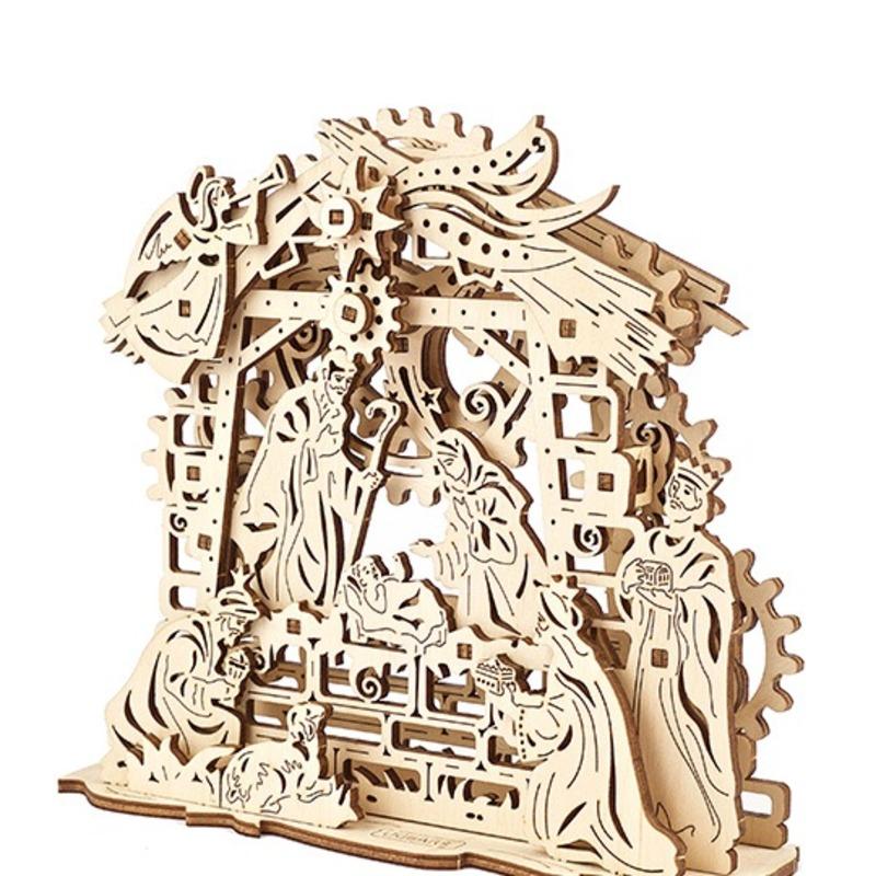 Механические 3D пазлы UGEARS Рождественский Вертеп 70141