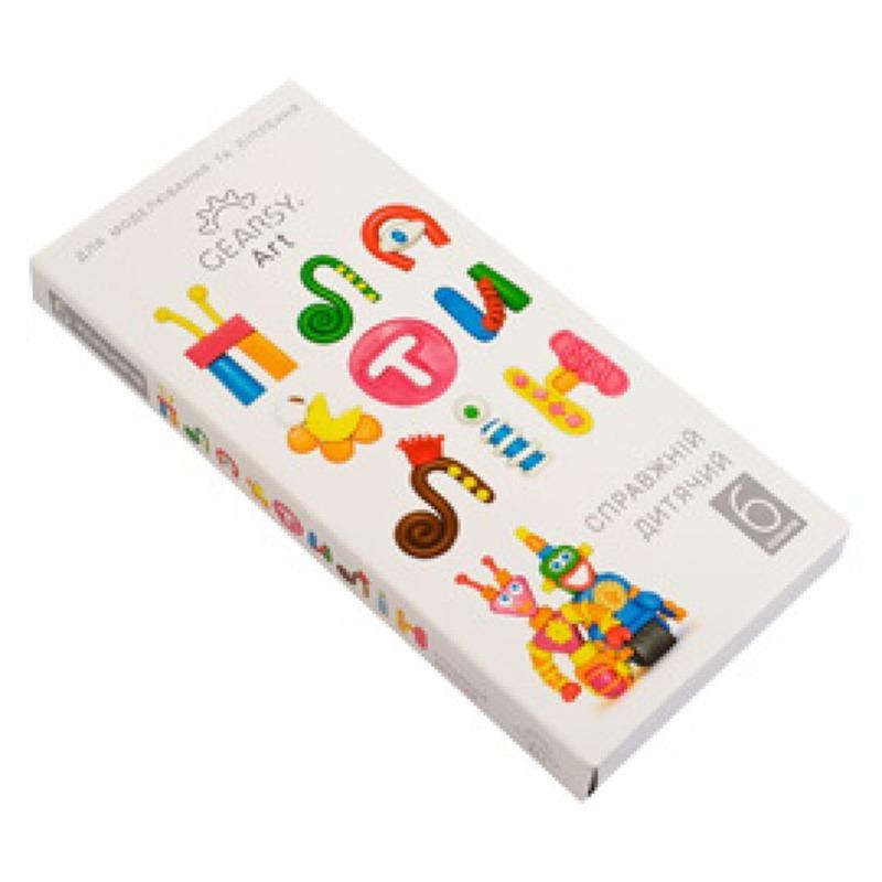 Наборы для развития и творчества Пластилин «Gearsy Art» набор из 6 цветов 60009
