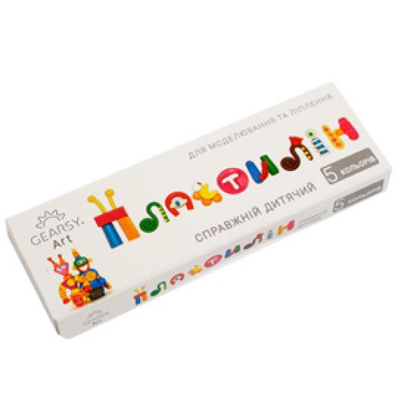 Наборы для развития и творчества Пластилин «Gearsy Art» набор из 5 цветов 60008