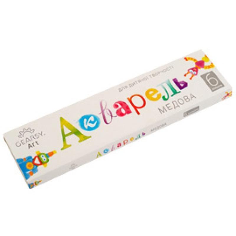 Наборы для развития и творчества Акварель «Gearsy Art», набор из 6 цветов 60004