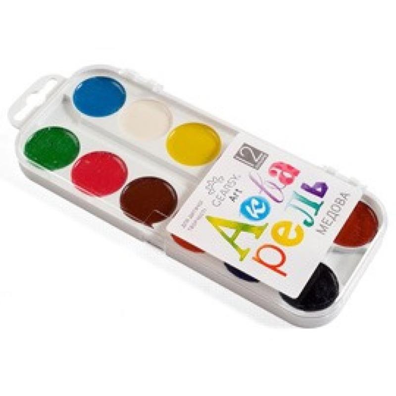 Наборы для развития и творчества Акварель «Gearsy Art», 12 цветов 60005