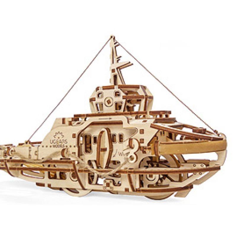 Механические 3D пазлы UGEARS Буксир 70078