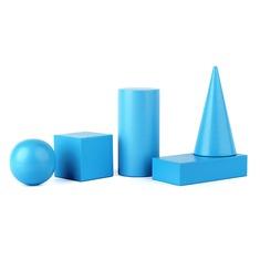 Набор геометрических фигур 40мм. Komarovtoys А370 (5 деталей)