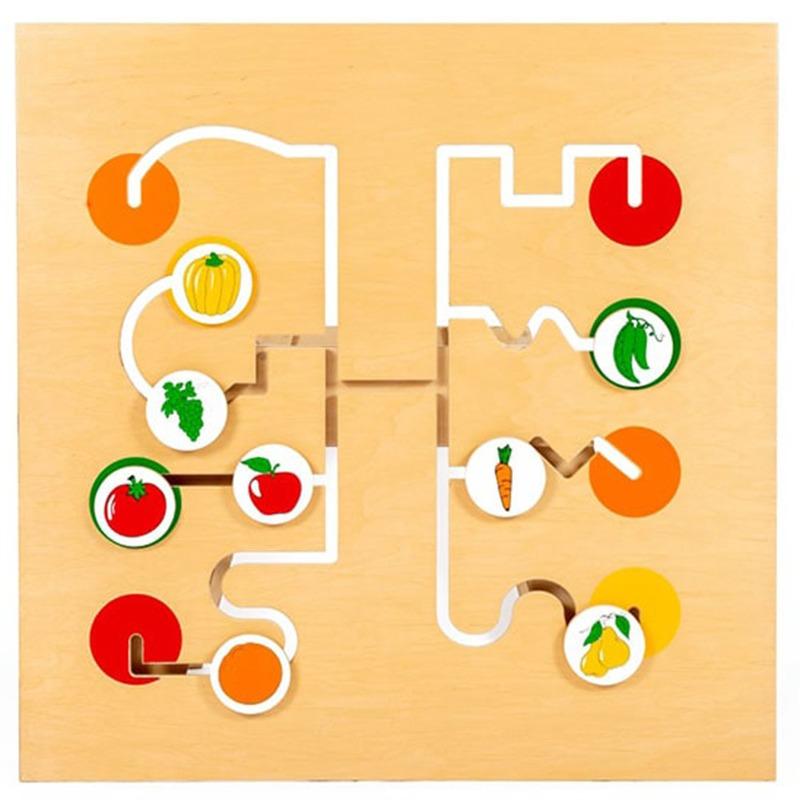 """Игровая панель """"Лабиринт фрукты-овощи"""" Lam Toys"""